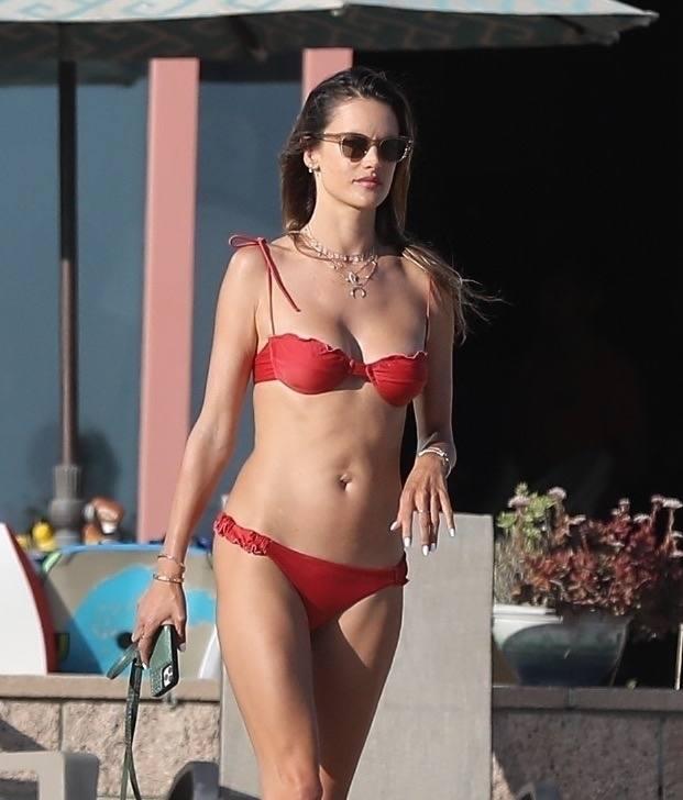 Alessandra Ambrosio Tiny Bikini