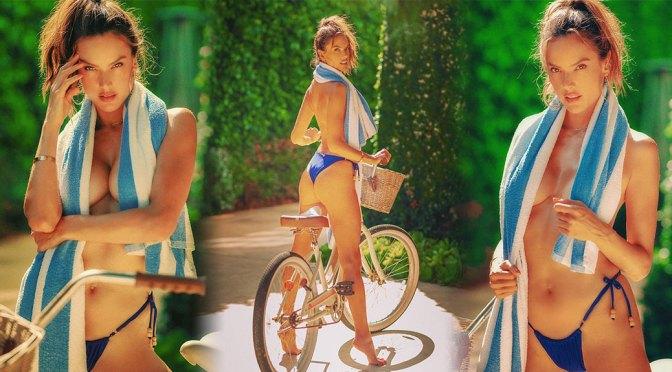 Alessandra Ambrosio – Hot Boobs in Sexy Braless Photoshoot