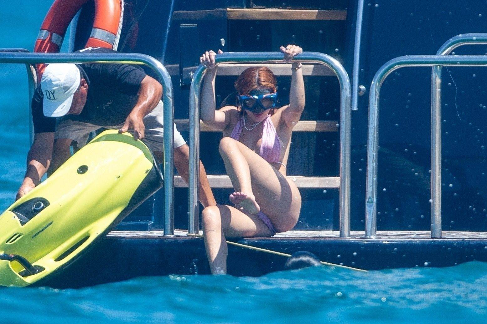 Bella Thorne - Sexy Ass in Tiny Bikini on a Yacht in Cabo San Lucas   Hot Celebs Home
