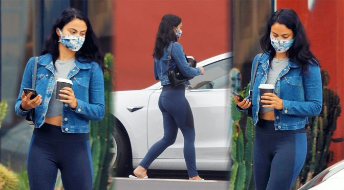 Camila Mendes – Sexy in Leggings Out in Los Angeles