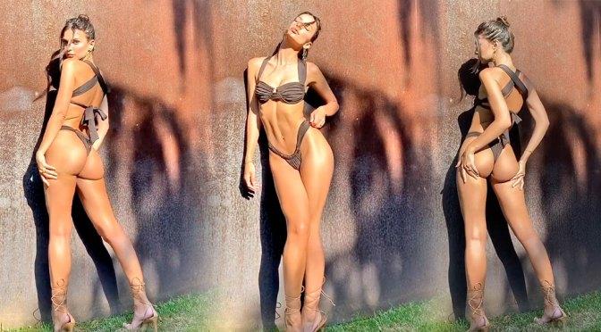 Emily Ratajkowski – Perfect Ass in Thong Bikini Video