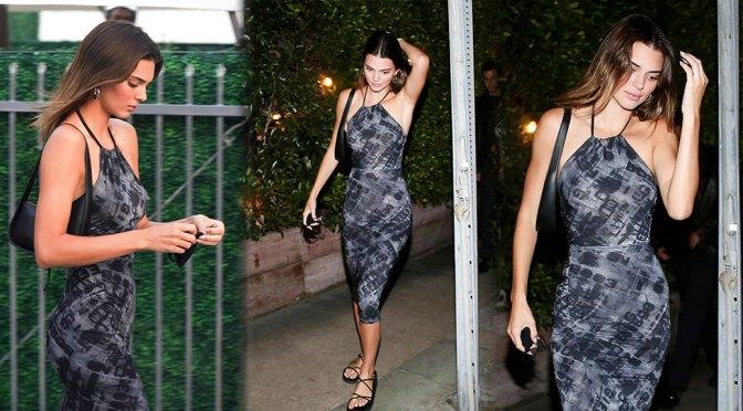 Kendall Jenner – Sexy Body in Beautiful Dress at Giorgio Baldi in Santa Monica