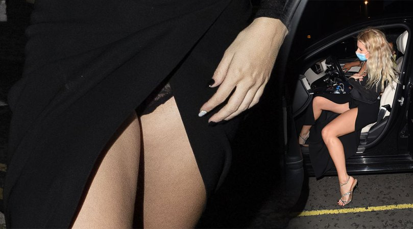 Lottie Moss Sexy Legs And Black Panties