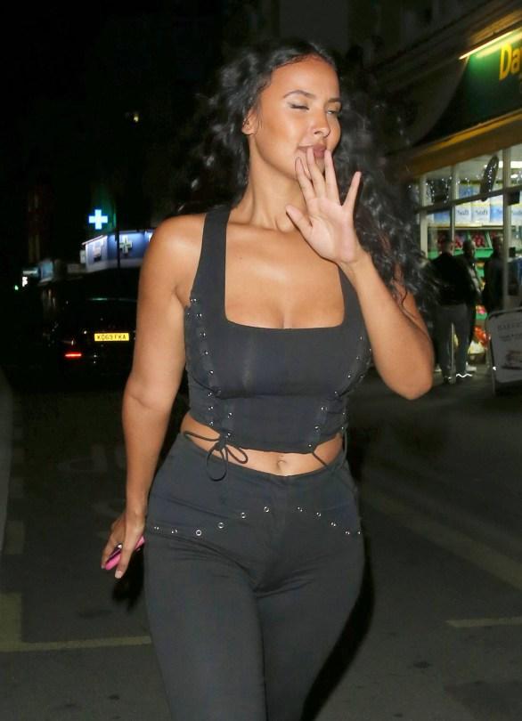Maya Jama Sexy Cleavage