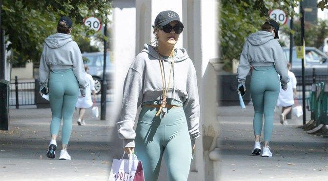 Rita Ora – Sexy Ass in Tight Leggings at Gym in London