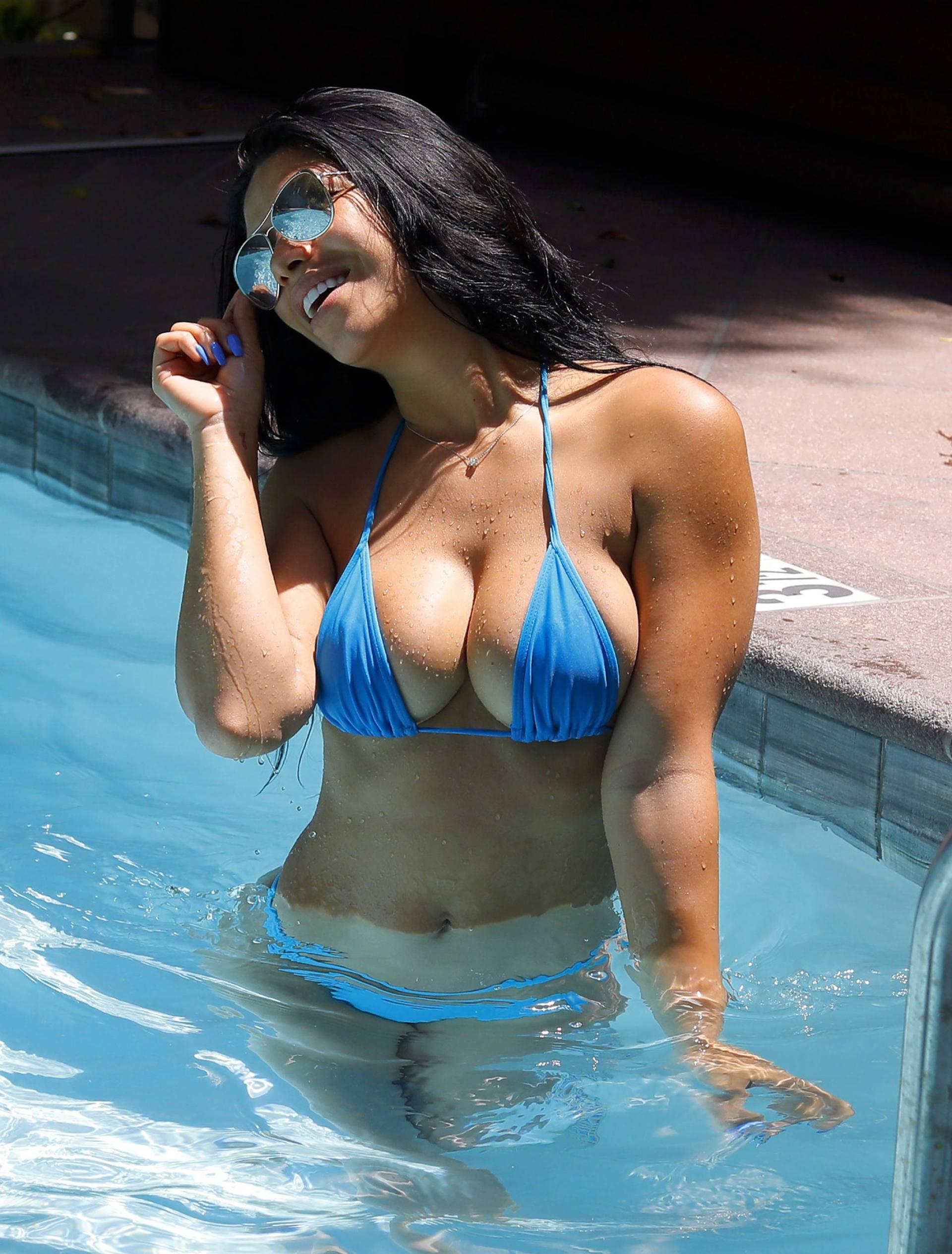 Suelyn Medeiros Blue Bikini