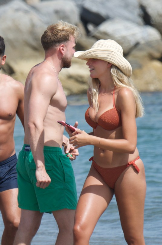 Zara Mcdermott Looks Sensational As She Hits The Beach In A Bikini In Marbella.