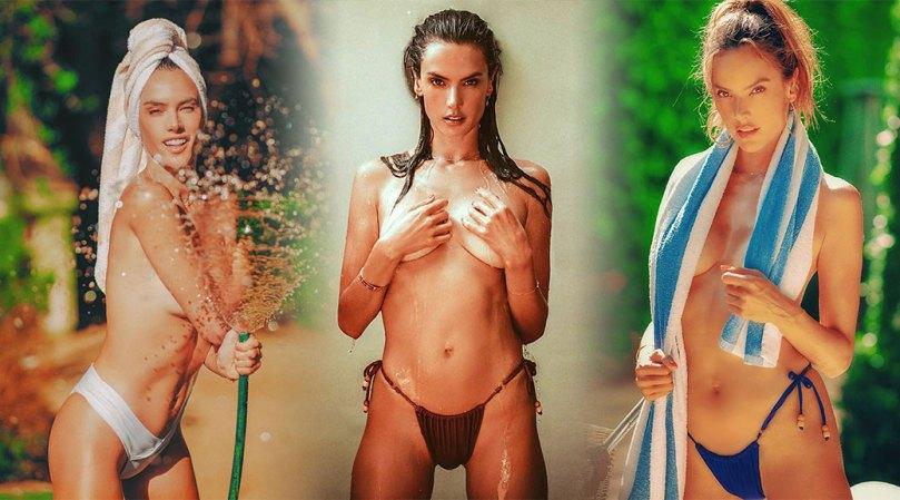 Alessandra Ambrosio Beautiful Boobs In Bikini Shoot
