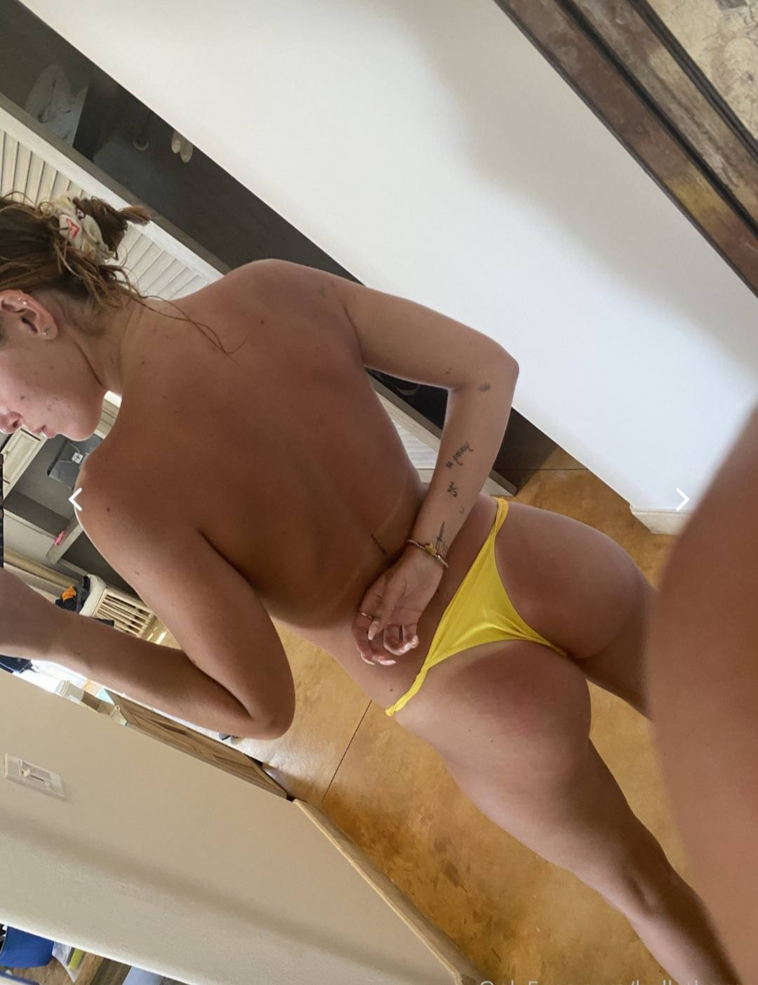 Bella Thorne Hot Ass In Tiny Thong