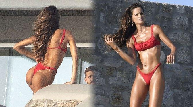Izabel Goulart – Fantastic Ass in Tiny Thong Bikini in Mykonos
