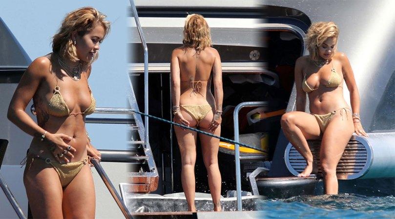 Rita Ora Sexy Ass And Boobs In Tiny Bikini