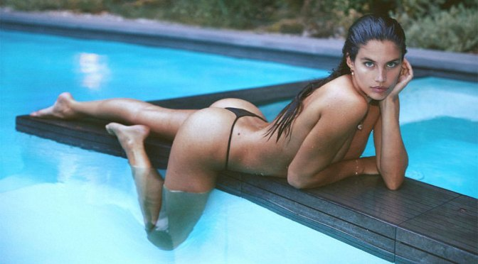 Sara Sampaio Beautiful Body In Thong Bikini