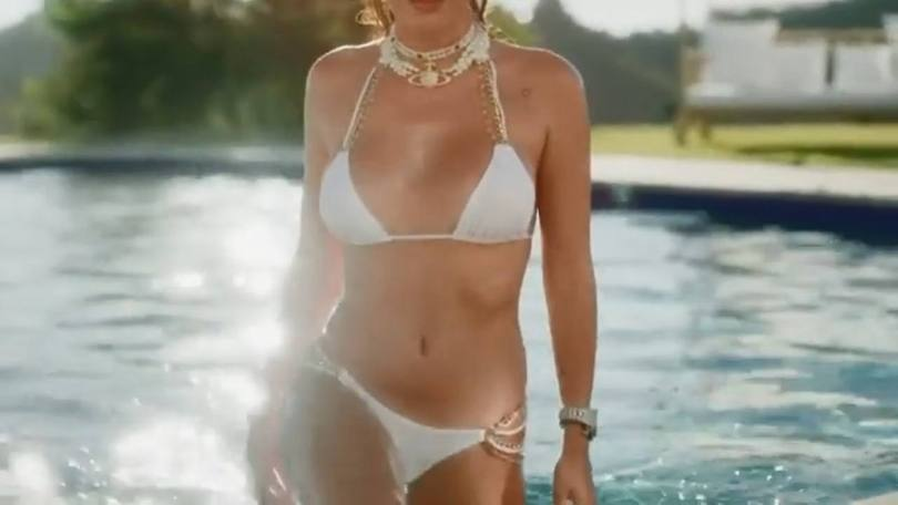 Bella Thorne In White Bikini