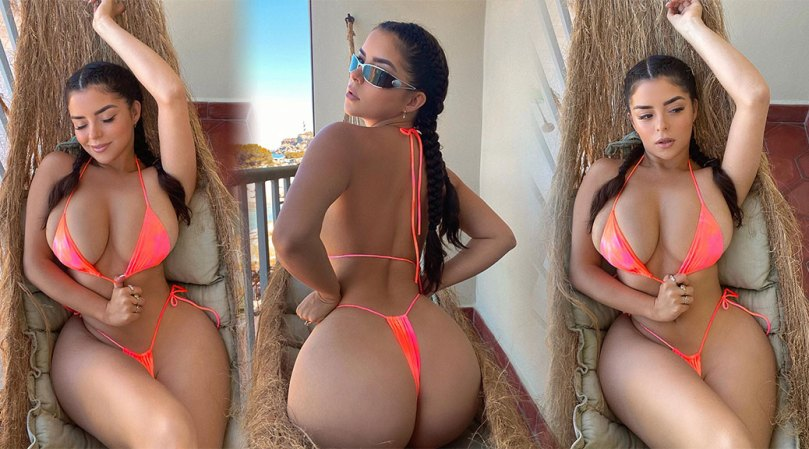 Demi Rose Mawby - Fantastic Boobs and Ass in a Tiny Thong Bikini