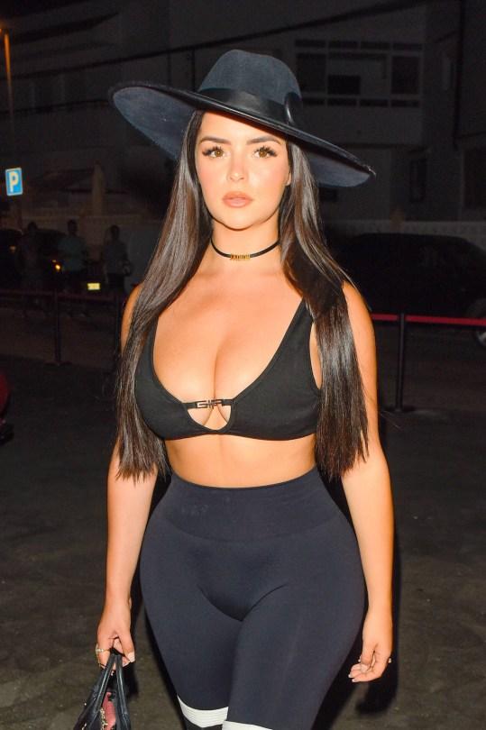 Demi Rose Mawby - Beautiful BIg Boobs in Sexy Top Out in Ibiza