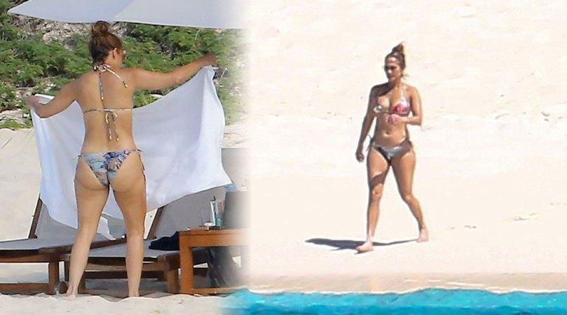Jennifer Lopez Sexy Big Ass In Bikini