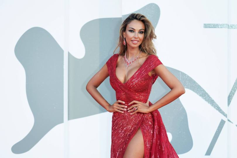 Madalina Ghenea Sexy Red Dress