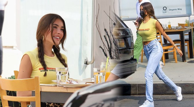 Madison Beer – Beautiful Candids at Toast in West Hollywood