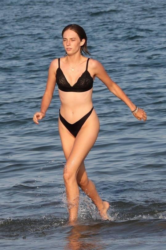 Maya Hawke In Black Underwear