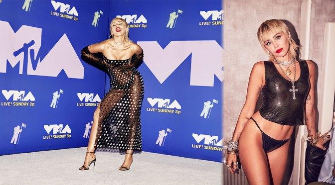 Miley Cyrus – Sexy Boobs and Nipples at 2020 MTV Video Music Awards