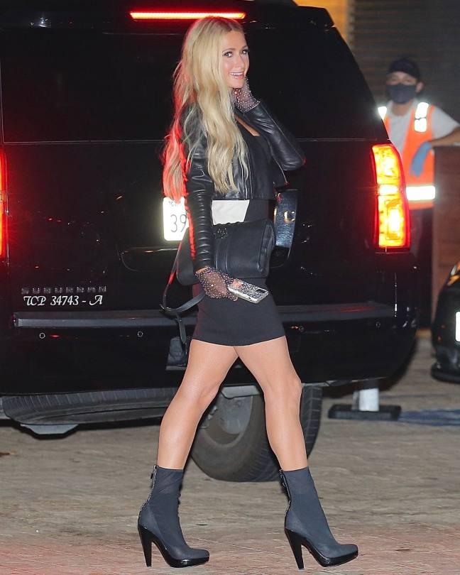 Paris Hilton In Sexy Black Dress