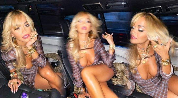 Rita Ora - Fantastic Body in Skimpy Dress