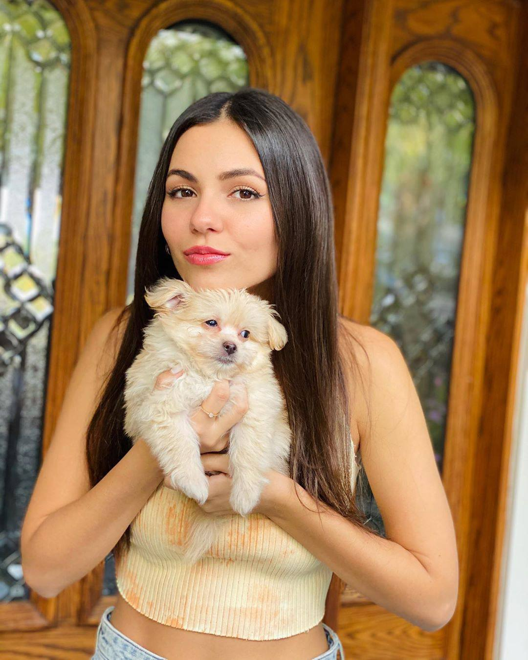 Victoria Justice Beautiful With Puppy