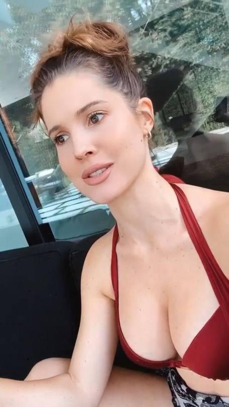 Amanda Cerny Beautiful Boobs In Red Bra