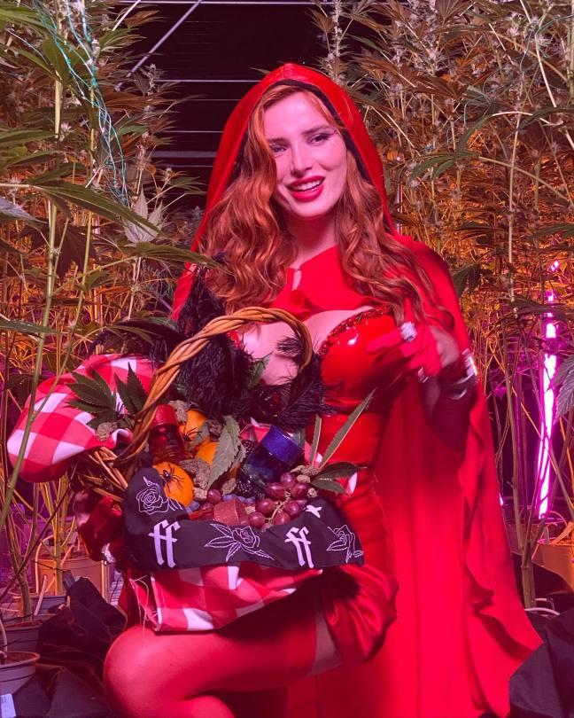 Bella Thorne Hot In Red