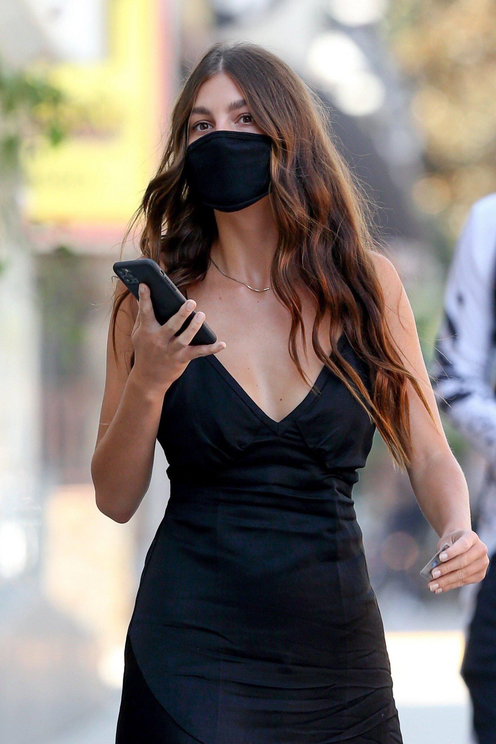 Camila Morrone Braless Dress