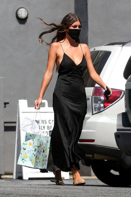 Camila Morrone Braless Dress
