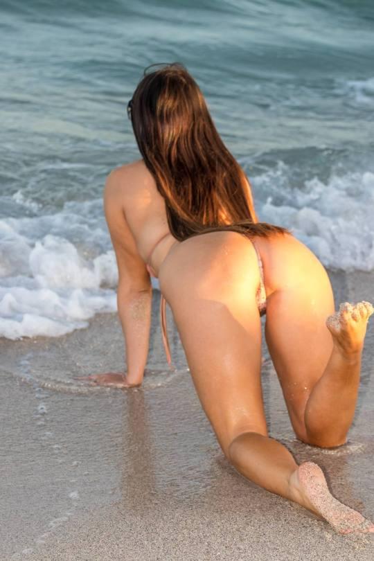 Claudia Romani Tiny Thong Bikini