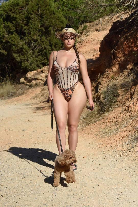 Demi Rose Mawby Sheer Swimsuit
