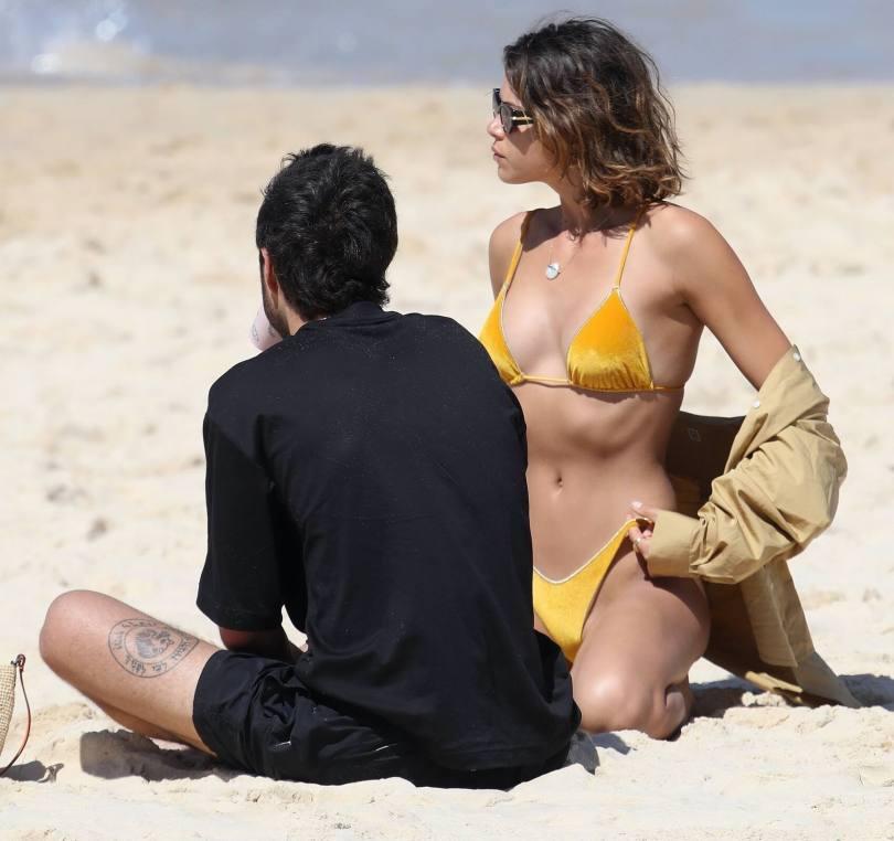 Georgia Fowler Sexy Yellow Bikini