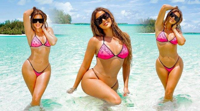 Khloe Kardashian – Sexy Curvy Body in a Skimpy Bikini