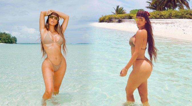 Kim Kardashian – Beautiful Boobs and Ass in a Sexy Bikini