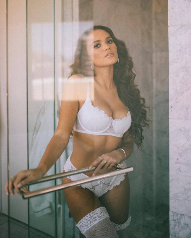 Madison Pettis Sexy White Lingerie