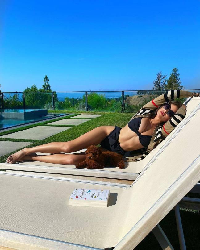 Olivia Culpo Beautiful Boobs In Black Bikini