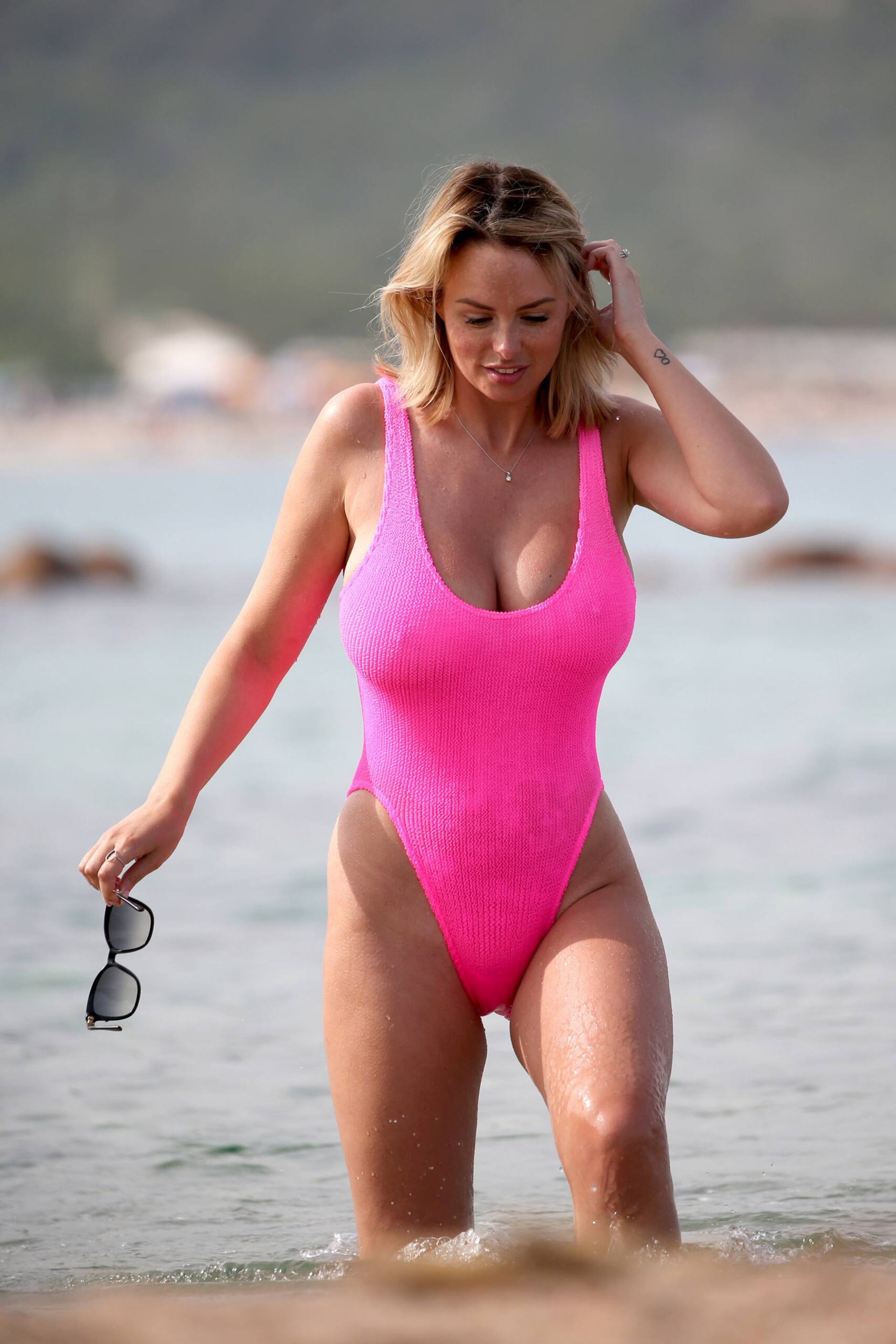 Rhian Sugden Sexy In Swimsuit