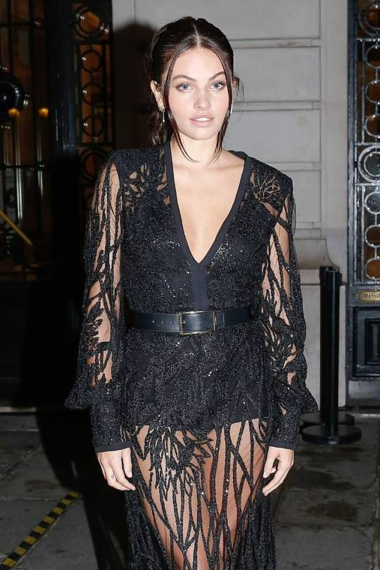 Thylane Blondeau Sexy Black Dress
