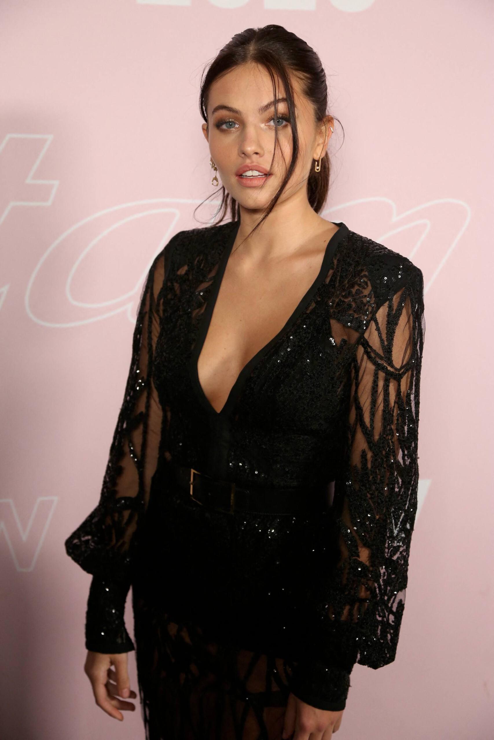 Thylane Blondeau - Sexy Body in Black Dress at Etam