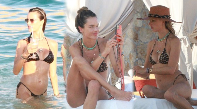 Alessandra Ambrosio – Sexy Boobs in Small Bikini in Cabo San Lucas