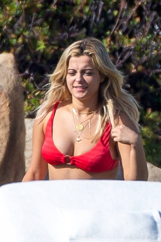 Bebe Rexha Hot In Red Bikini