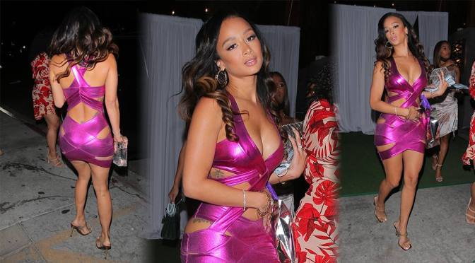 Draya Michele – Fantastic Body in a Sexy Dress at Nobu in West Hollywood