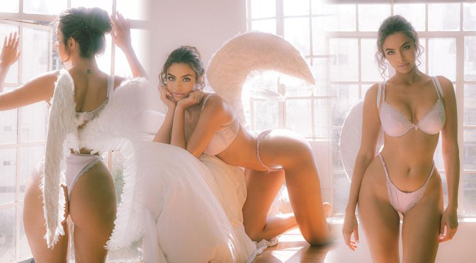 Priscilla Huggins Ortiz – Beautiful Boobs and Ass in Sexy Angel Photoshoot