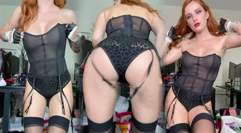 Bella Thorne Black Panties See Through