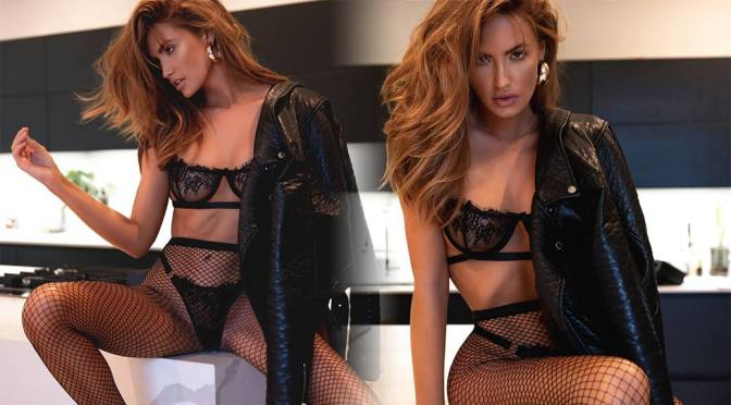 Haley Kalil – Sexy Body in Black Lingerie