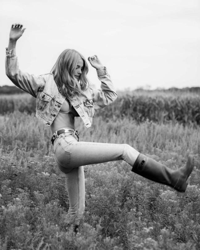 Kate Bock In Bra And Tight Jeans