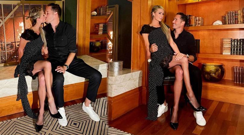 Paris Hilton Leggy In Stockings
