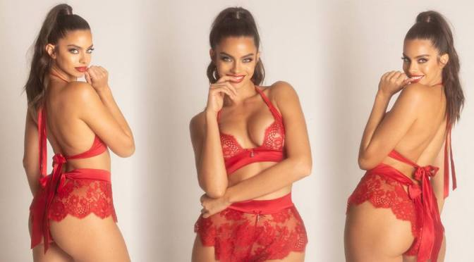 Priscilla Huggins Ortiz – Fantastic Body in a Sexy Red Lingerie